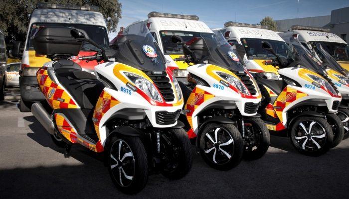 Peugeot Motocycles equipa a Samur – Protección Civil de Madrid con 7 Peugeot Metropolis