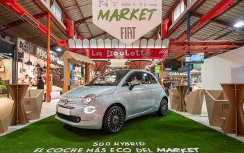 Fiat 500 Hybrid, el coche más eco del market, llega al Mercado de la Paz en Madrid