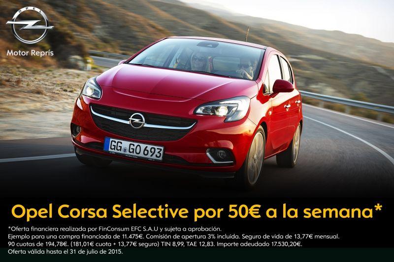 Opel Corsa desde 50€ a la semana