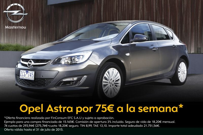 Opel Astra desde 75€ a la semana