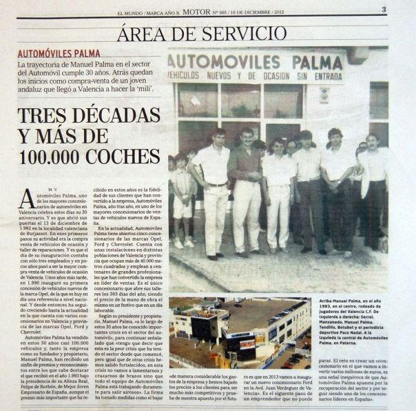 Automóviles Palma cumple 30 años. 3 décadas y más de 100.000 coches vendidos.