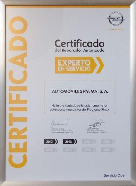 Automóviles Palma logra la máxima certificación de calidad en el área de Postventa para la marca Opel.