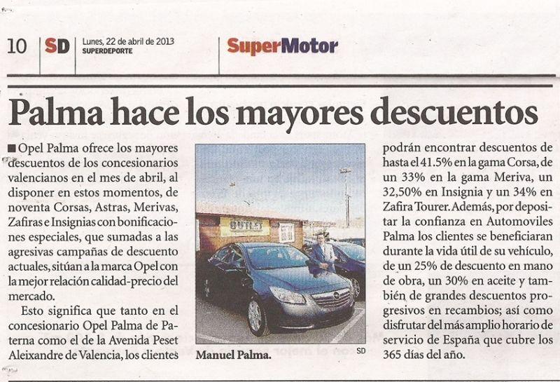 ¡Automóviles Palma hace descuentos de hasta el 41,5%!