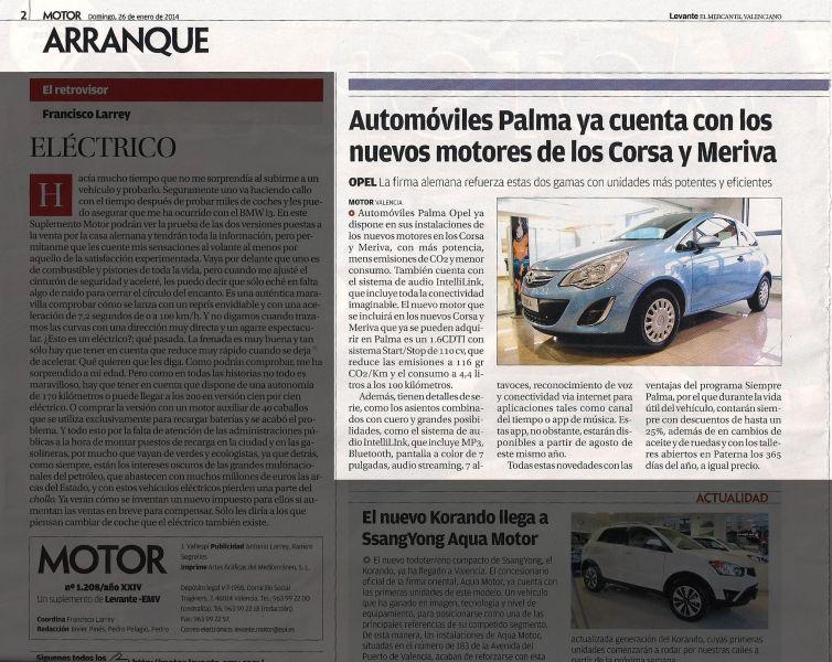 Automóviles Palma ya cuenta con nuevos motores para los Corsa y Meriva