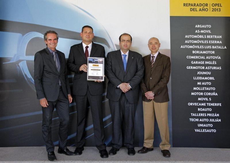 Opel Germotor único Repador Opel del Año en Asturias