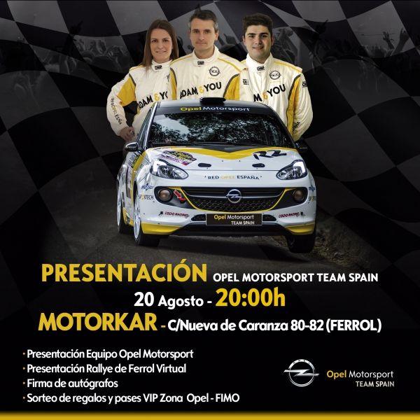 PRESENTACION EN MOTORKAR EQUIPO OPEL MOTORSPORT TEAM SPAIN