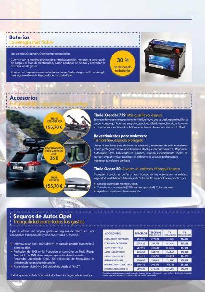 Baterías, accesorios y seguros