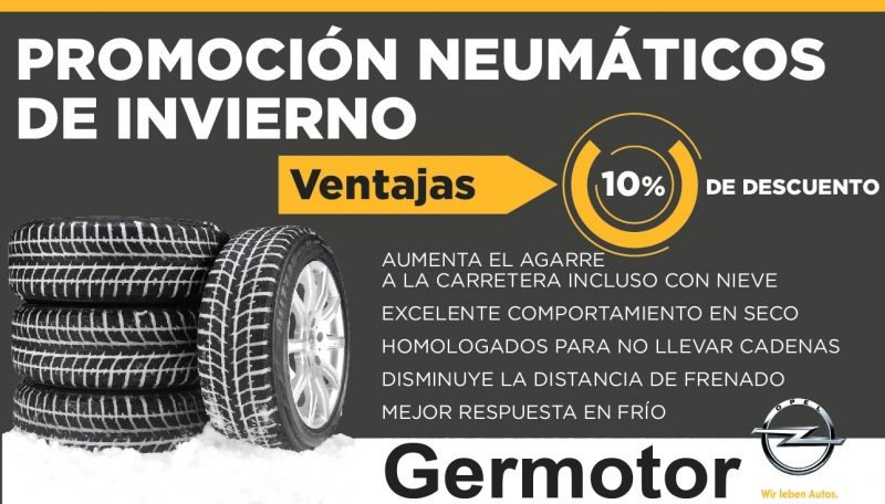 PROMOCIÓN NEUMÁTICOS DE INVIERNO -10% DTO.
