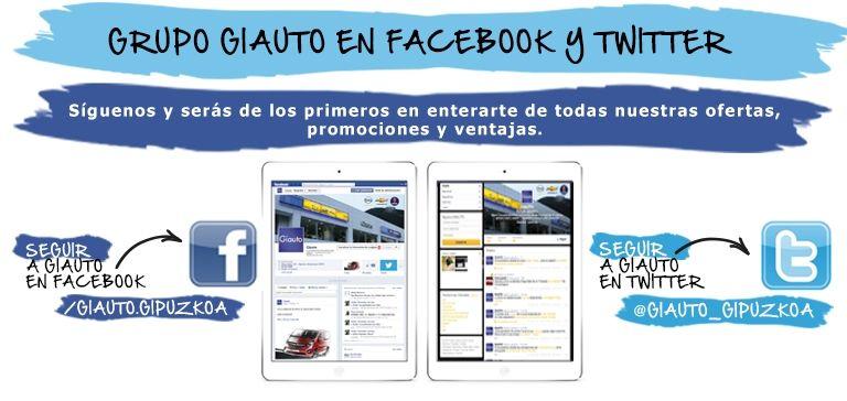 Sigue a Giauto en Facebook y Twitter