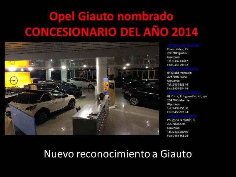 Opel Giauto recibe el premio