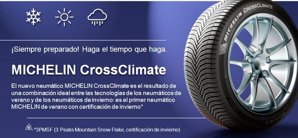 MICHELIN CrossClimate Ya disponible en GIAUTO