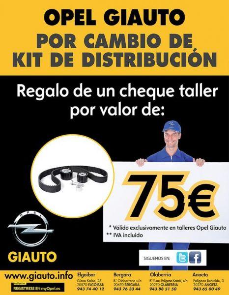Giauto te regala un cheque taller por valor de 75 euros.