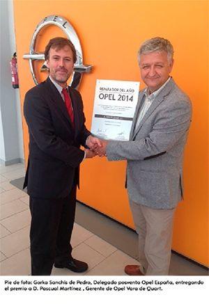 Opel Vara de Quart, elegido Reparador Opel del año 2014