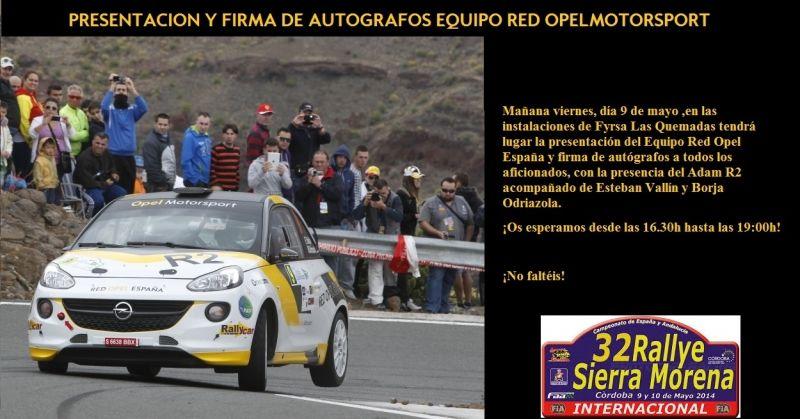 El Equipo Red Opel España listo para afrontar el Rallye Sierra Morena