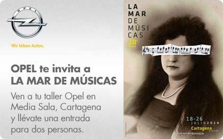 Opel Cartagena te invita a La Mar de Músicas