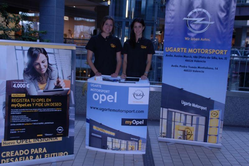 Ugarte Motorsport presenta la gama Opel en los principales centro comerciales valencianos