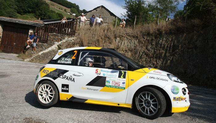 Vallín y el Opel Adam R2 brillan en el Rallye Príncipe de Asturias