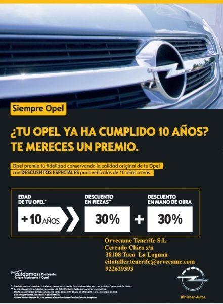 SIEMPRE OPEL 10+ en Tenerife