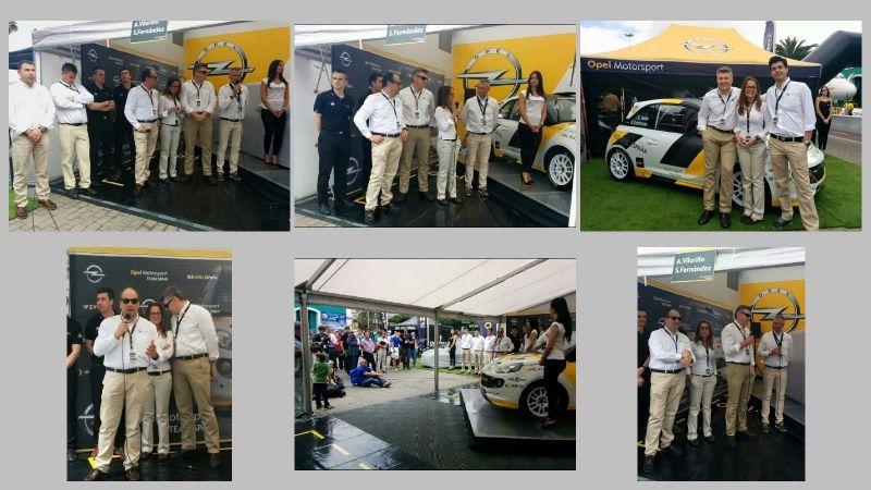 Presentación del equipo Opel Motorsport Team Spain en el Rally Islas Canarias
