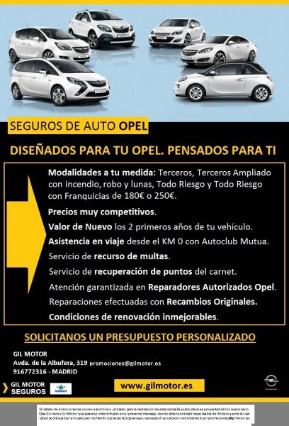 SEGUROS DE AUTO OPEL