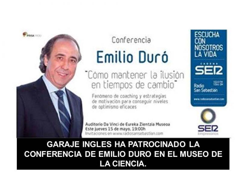 GARAJE INGLES HA PATROCINADO LA CONFERENCIA DE EMILIO DURO