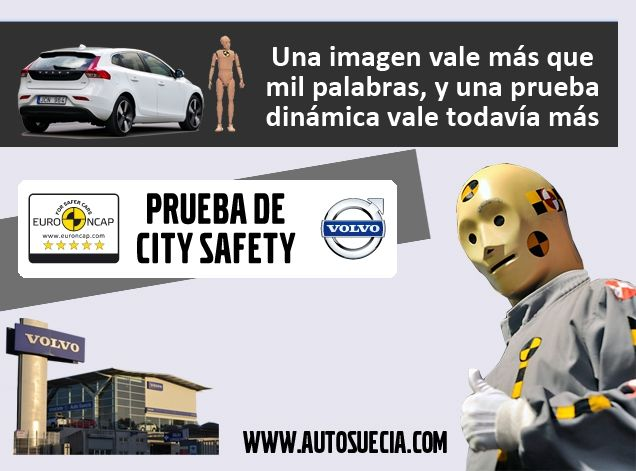 CITY SAFETY TEST PERFORMANCE EN AUTO SUECIA