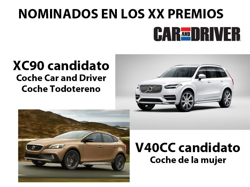 LOS VOLVO XC90 Y V40 CROSS COUNTRY NOMINADOS EN LOS PREMIOS CAR AND DRIVER