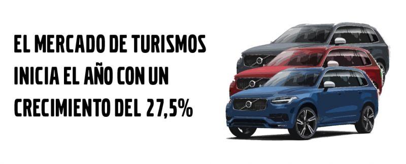 EL MERCADO DE TURISMOS INICIA EL AÑO CON UN CRECIMIENTO DEL 27,5%