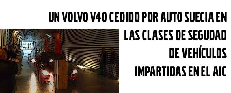 AUTO SUECIA CEDE UN VEHÍCULO PARA CLASES DE SEGURIDAD DEL AUTOMÓVIL IMPARTIDAS EN EL AIC