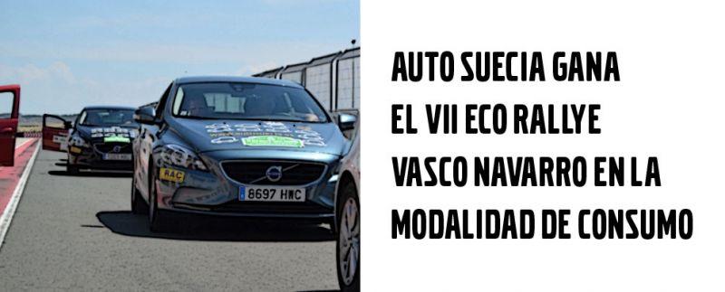 AUTO SUECIA GANA EL VII ECO RALLYE VASCO NAVARRO EN LA MODALIDAD DE CONSUMO