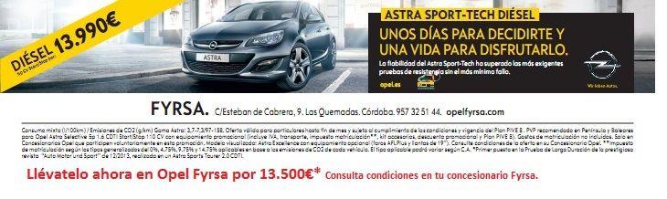 Aprovecha la Oportunidad. Últimas unidades del Opel Astra a 13.500€*