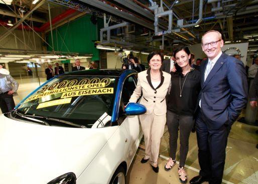 El coche tres millones producido en la Planta de Eisenach es un Opel ADAM