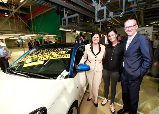 Opel ADAM el cotxe tres millons a la planta Eisenach (Alemanya)