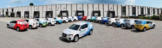 """La flota propulsada per pila de combustible de GM supera ja gairebé els 5 milions de quilòmetres """"Project Driveway"""": 119 vehicles de pila de combustible s'apropen a la màgica xifra de 5 milions de quilòmetres de funcionament diari"""