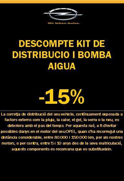 OFERTA KIT DISTRIBUCIÓ I BOMBA D'AIGUA -15% DE DESCOMPTE!!!