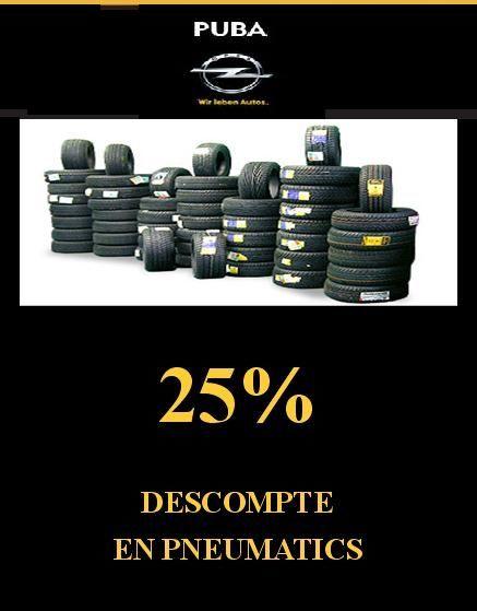25% DE DESCOMPTE EN PNEUMÀTICS!!!