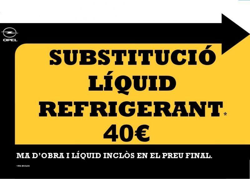 PREPARA'T PER L'HIVERN SUBSTITUCIÓ DE LÍQUID REFRIGERANT.