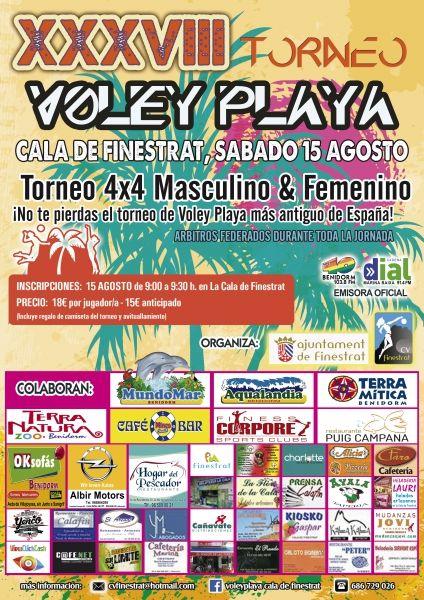 Pratocinamos el XXXVIII Torneo de Voley Playa de La Cala de Finestrat