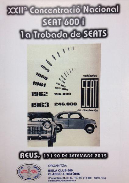XXIIa Concentració Nacional SEAT 600 i 1a Trobada de SEATS