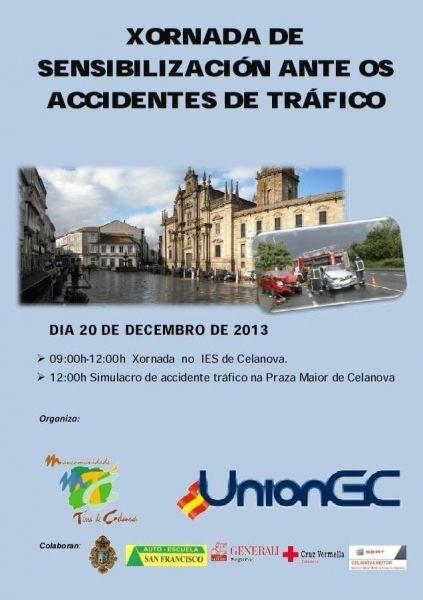 Xornada de sensibilizacion ante os accidentes de tráfico en Celanova