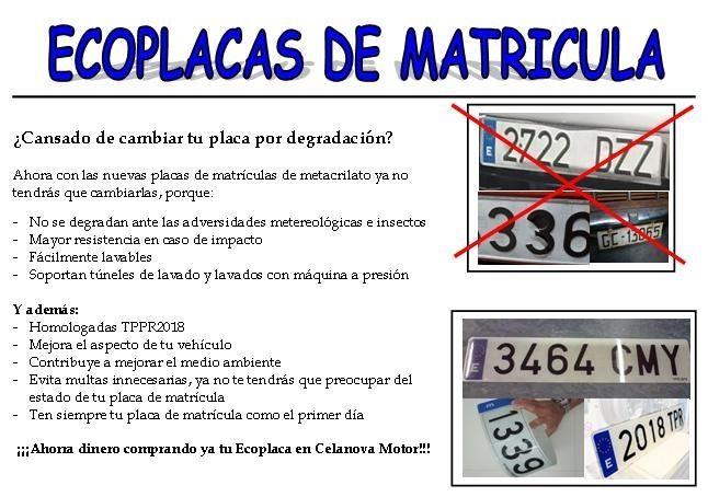 PLACAS DE MATRICULA ACRILICAS