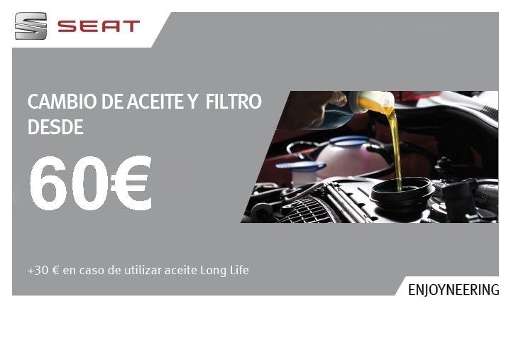 CAMBIO DE ACEITE+FILTRO+INSPECCIÓN VISUAL