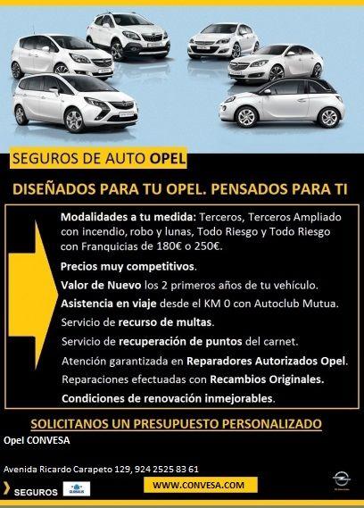 SEGUROS DE AUTO OPEL. ¡¡GRANDES OFERTAS PENSADA PARA TI Y DISEÑADAS PARA TU OPEL!!.