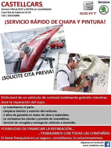 ¡SERVICIO RÁPIDO DE CHAPA Y PINTURA!
