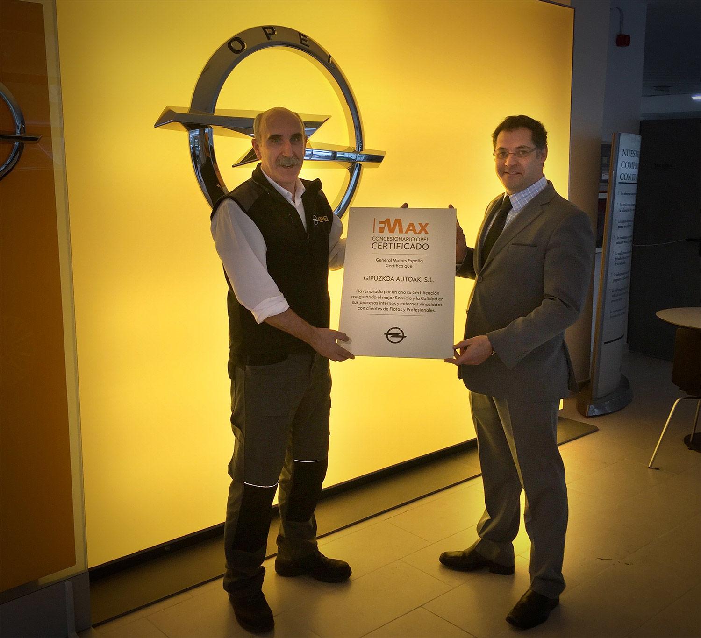 Giauto concesionario Opel Certificado Fmax