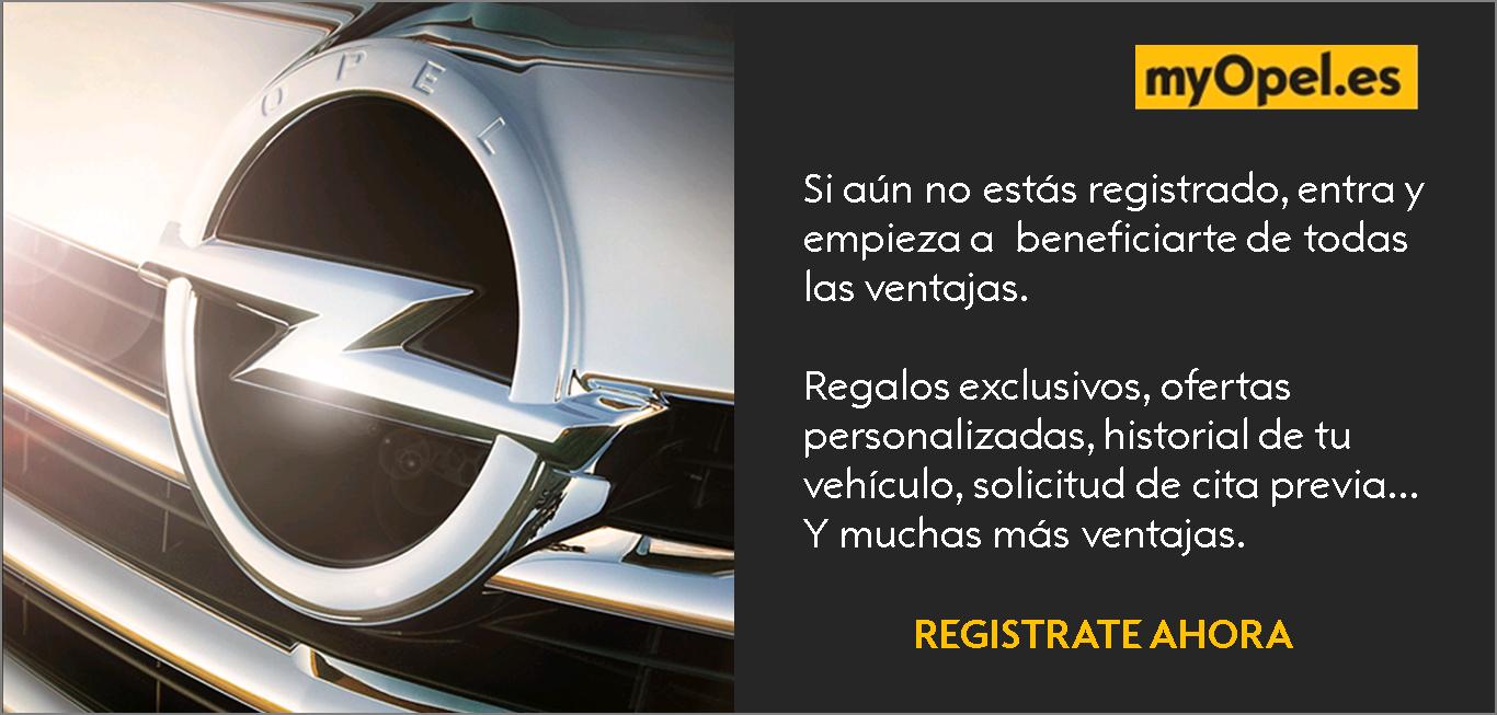 Registrate en myOpel.es