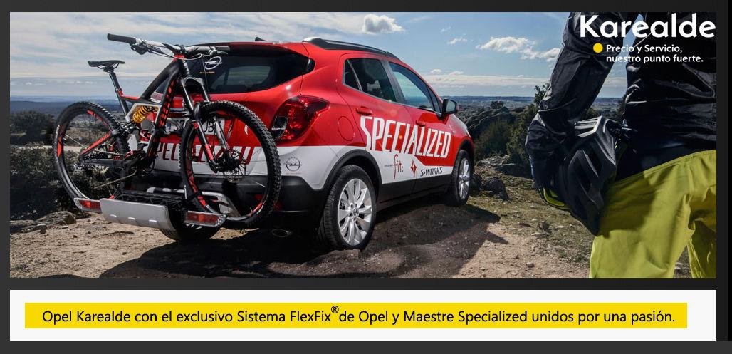 Opel Karealde con el exclusivo Sistema FlexFix de Opel y Maestre Specialized unidos por una pasión