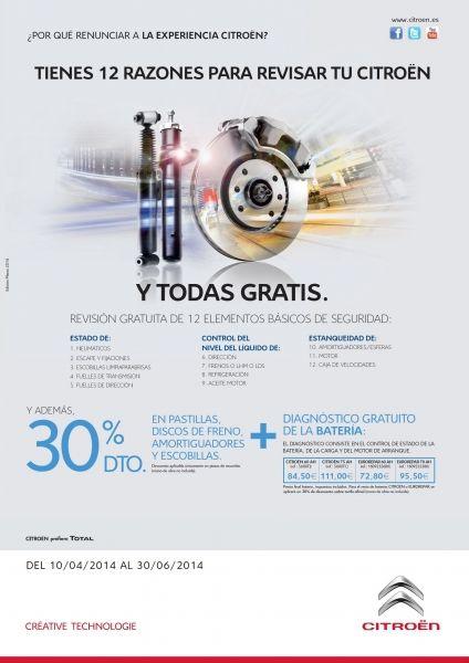 12 RAZONES PARA REVISAR TU CITROEN Y TODAS GRATIS