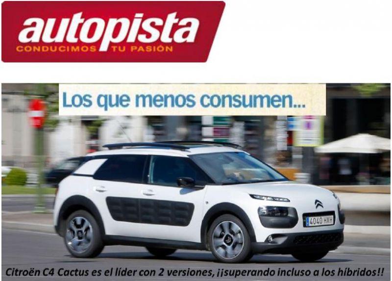 Citroën C4 Cactus líder en consumos superando a los híbridos
