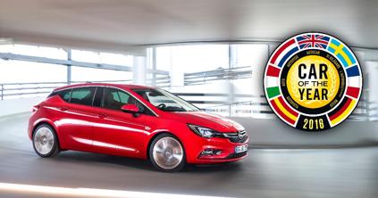 El Opel Astra gana el galardón de Coche del Año en Europa 2016